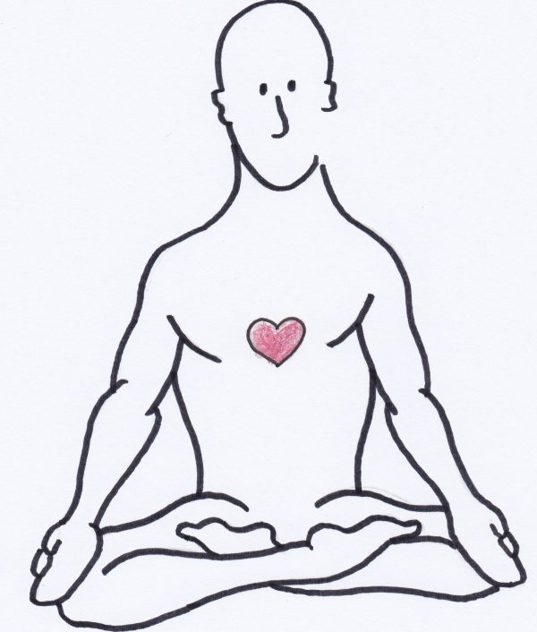Breathing Man meditating - breathing optimally...