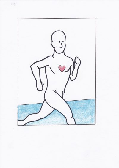 Breathing Man Running